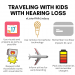 Traveling with kids with hearing loss @listenwithlindsay header