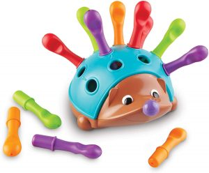 Spike the sensory hedgehog fine motor toy for conditioned play audiometry hearing tests