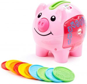 Fisher-Price Laugh & Learn Smart Stages Piggy Bank for conditioned play audiometry hearing test