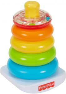 Fisher Price Stacking rings for conditioned play audiometry hearing test